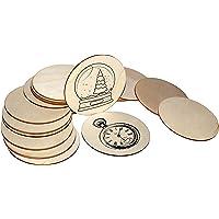 Discos de Madera Sin Acabado (50 Piezas)