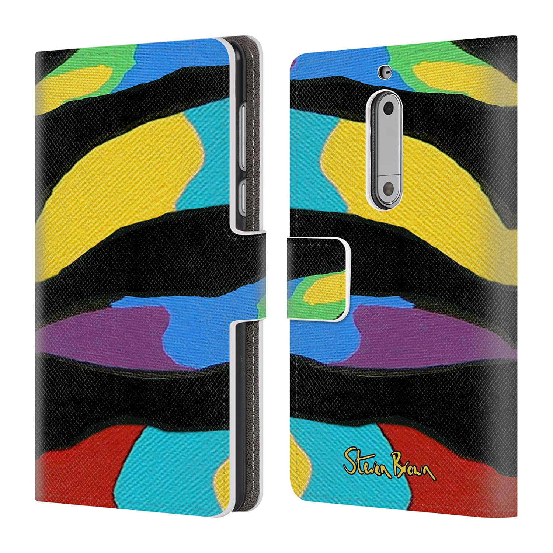 Oficial Steven Brown modelos carcasa tipo Cartera de piel Para Microsoft Nokia Teléfonos: Amazon.es: Electrónica