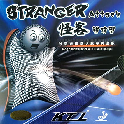 KTL Stranger Attack Long Pips-out Table Tennis (Ping Pong) Rubber With Sponge