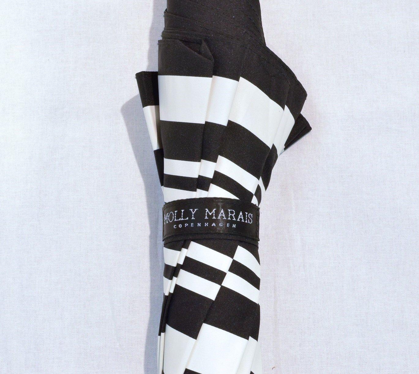 Schwarz Creme Streifen Molly Marais DK Pagodenschirm Schirm Black Cream Stripes