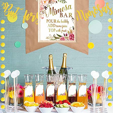 Acrylic Sign Mimosa Bar Sign Champagne Brunch Baby Shower Sign Brunch /& Bubbly Bridal Shower Custom Sign Engagement Wedding