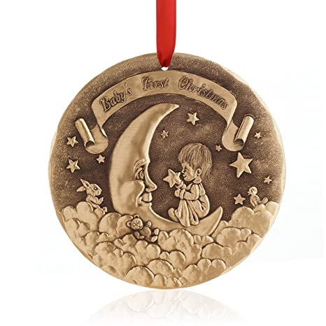 Wendell August Baby's First Christmas Ornament (Bronze) - Amazon.com: Wendell August Baby's First Christmas Ornament (Bronze