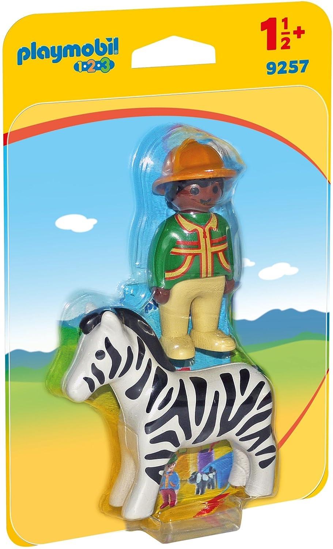 Ranger With Zebra Playmobil 9257 1.2.3