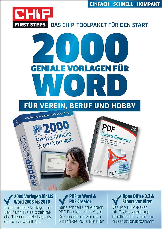 2000 Geniale Vorlagen Für Word Amazon De Software