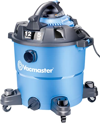 Vacmaster VBV1210, 12-Gallon 5 Peak HP Wet Dry Shop Vacuum with Detachable Blower