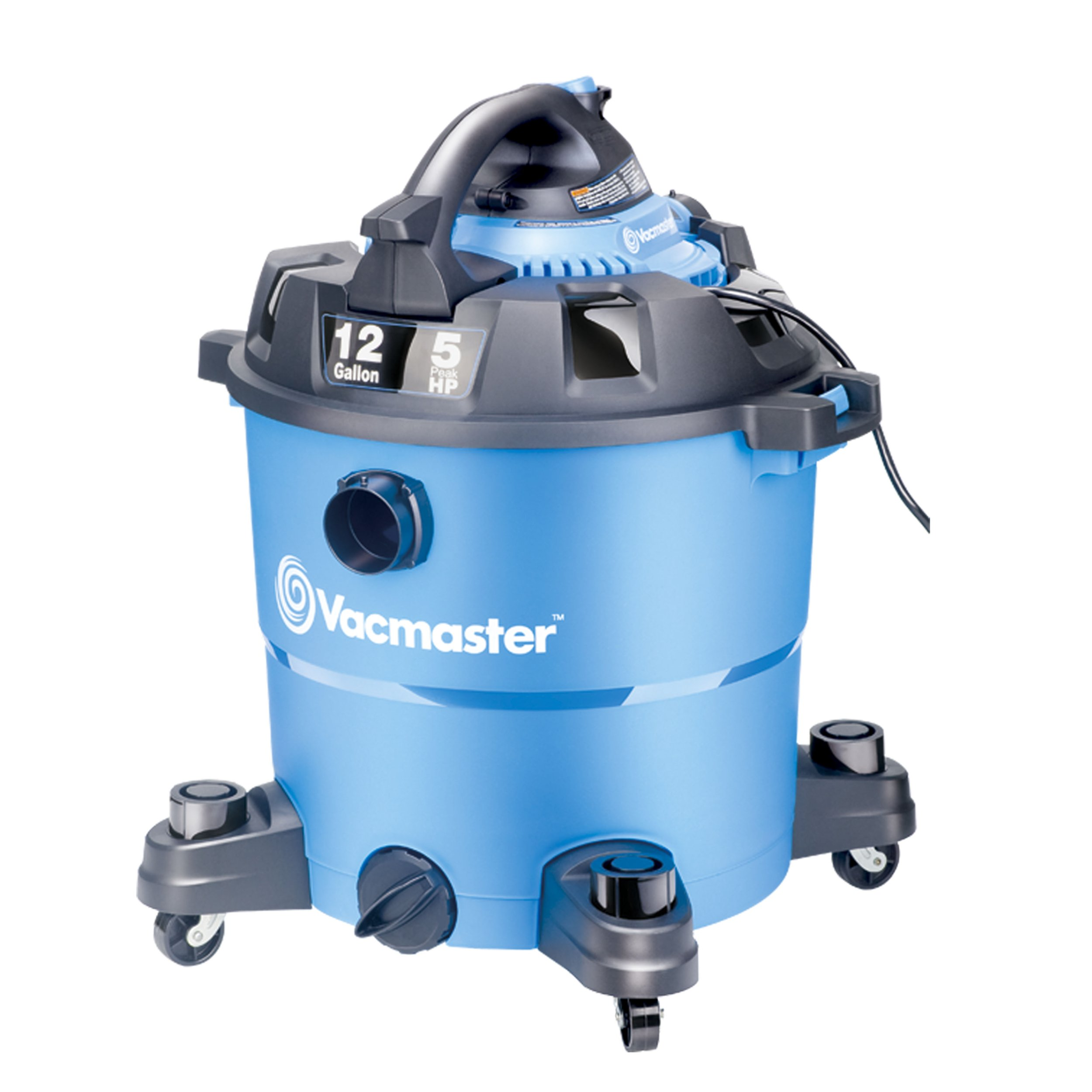 Vacmaster, VBV1210, 12 Gallon 5 Peak HP Wet/Dry Shop Vacuum with Detachable Blower by Vacmaster
