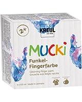 Mucki 2318 - Funkel Fingerfarbe, 4er Set, 150 ml