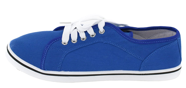 BRANDSSELLER Damen Sneaker/Freizeitschuh Sneaker/Freizeitschuh Damen / Leinenschnürer/Halbschuh Blau 126834