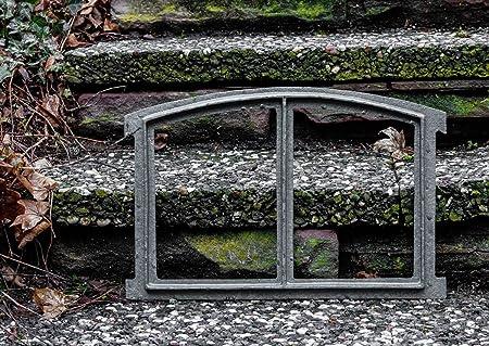 x Fenster grau Stallfenster Eisenfenster Scheunenfenster Eisen 40cm Antik-Stil