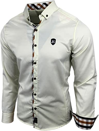 Baxboy Camisa de Manga Larga Business Tiempo Libre Slim Fit Party Polo Neu 1115 – M: Amazon.es: Ropa y accesorios