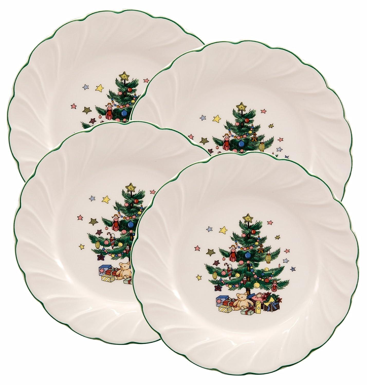 Amazon.com | Nikko Happy Holidays 8-Inch Salad Plate, Set of 4 ...
