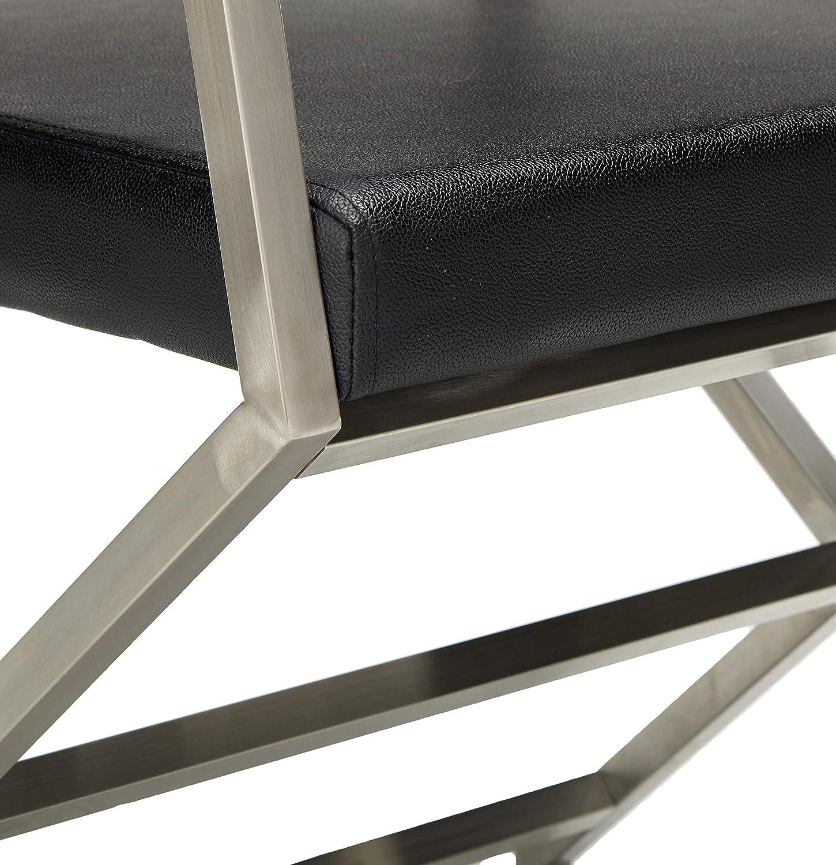 Christopher Knight Home Vesper Leather Modern Arm Chairs, 2-Pcs Set, Black