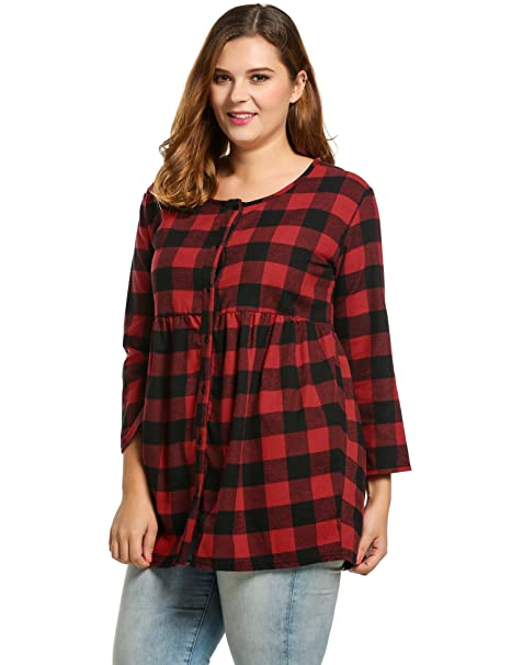 Meaneor Shirt Red Black X Large At Amazon Womens Clothing Store