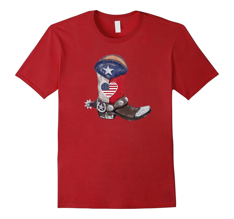 Country T Shirt Gift - American Texas Flag Country Shirt-FL