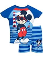 Mickey Mouse Boys Disney Mickey Mouse Two Piece Swim Set Ages 18 Months to 6 Years