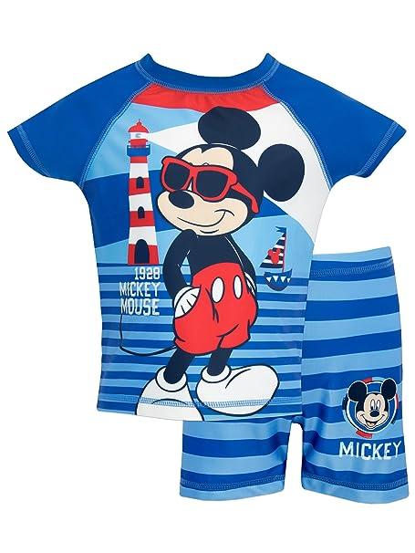 e2337d3b5fd5 Disney Mickey Mouse - Bañador de Dos Piezas para niño Mickey Mouse