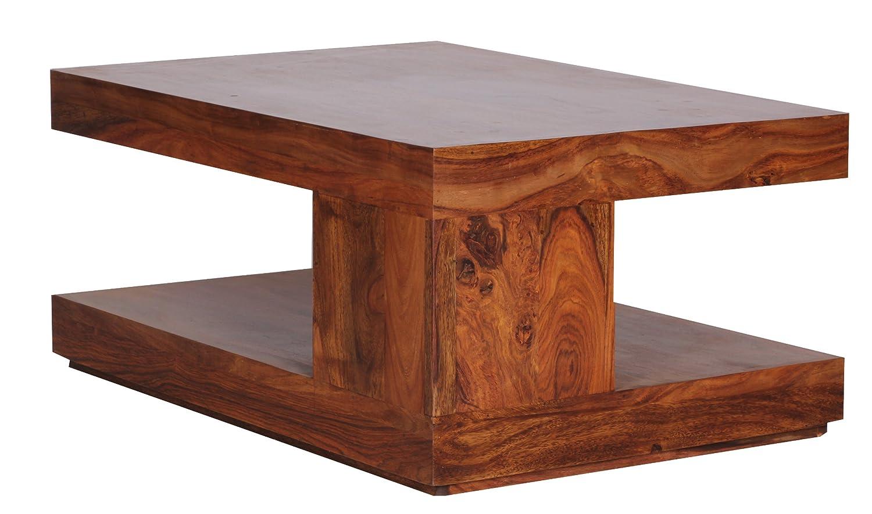 WOHNLING Couchtisch WL1219 Massiv Holz Sheesham 90 Cm Breit Wohnzimmer Tisch Design Dunkel Braun Amazonde Kche Haushalt
