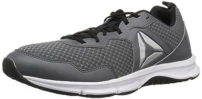 c67a099a5605d8 Reebok Men s Express Runner 2.0 Running Shoe Alloy Black White Silver 9.5 D