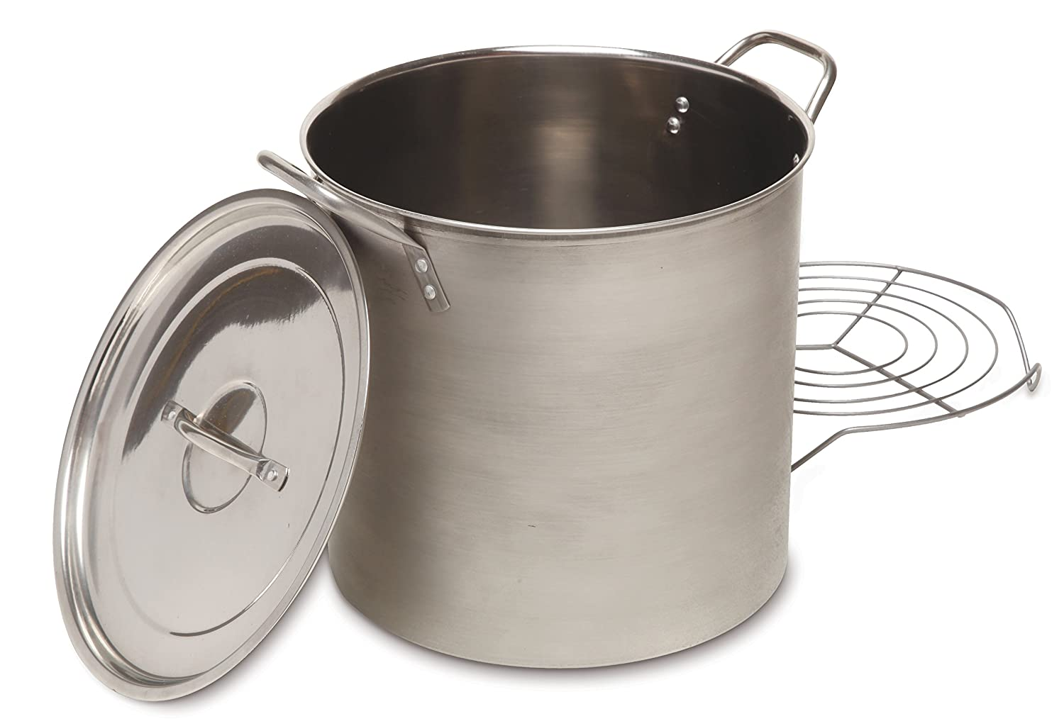 Heuck Classics Stainless Steel Tamale and Steamer Stock Pot, 16-Quart, Silver H36202-HL-1