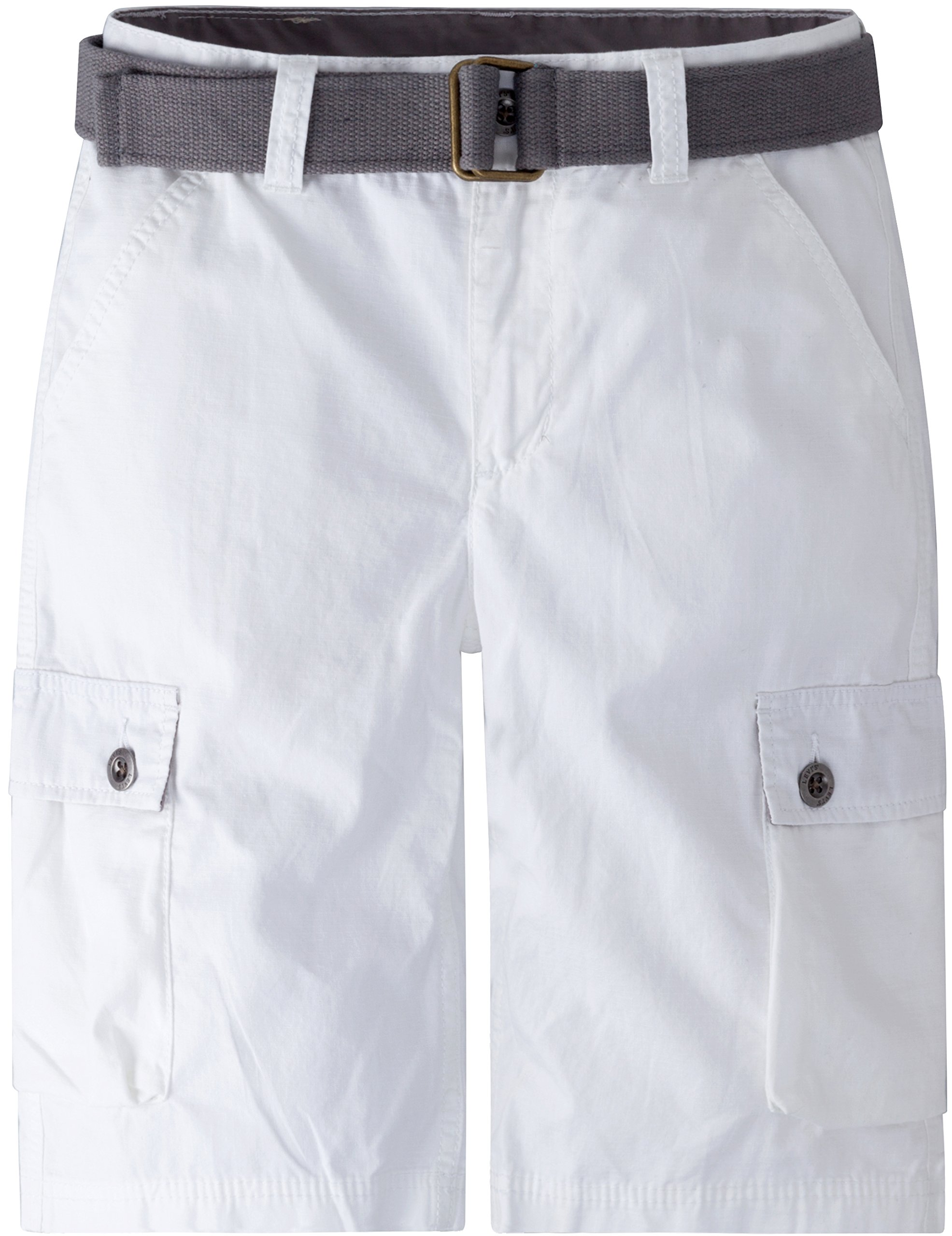 Levi's Boys' Big Cargo Shorts, White 12
