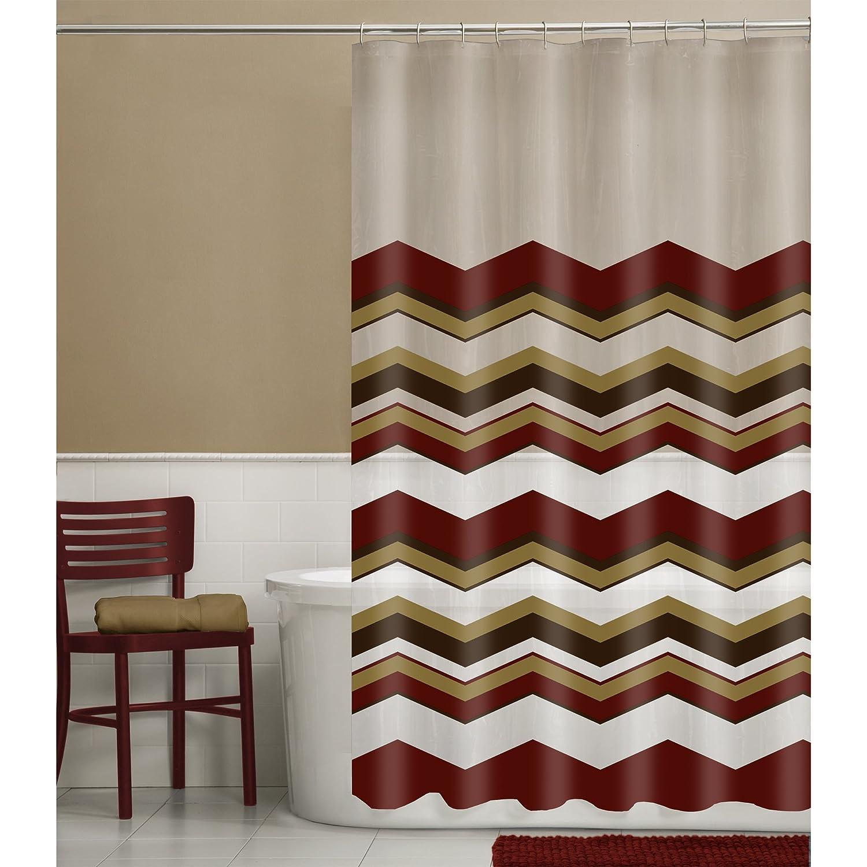 Maytex Arbor Tree 13 Piece PEVA Shower Curtain Set with 12 Hooks 79074