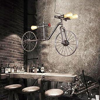 OOFAY LIGHT® Industrial Style Pendelleuchte Einfache Retro Hängelampe Water  Pipes Fahrrad Form Metall Kronleuchter Für