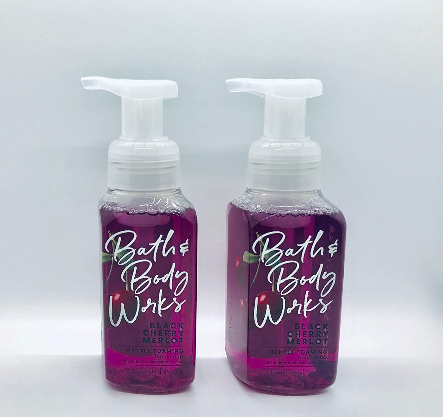 Bath and Body Works Gentle Foaming Hand Soap, Black Cherry Merlot 8.75 Ounce (2-Pack)
