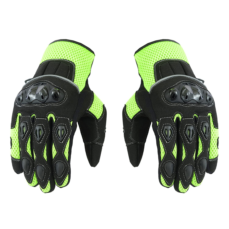 Yellow XL Short Summer Mens Motorbike Motorcycle Gloves Mountain Riding Bike Sports Glove
