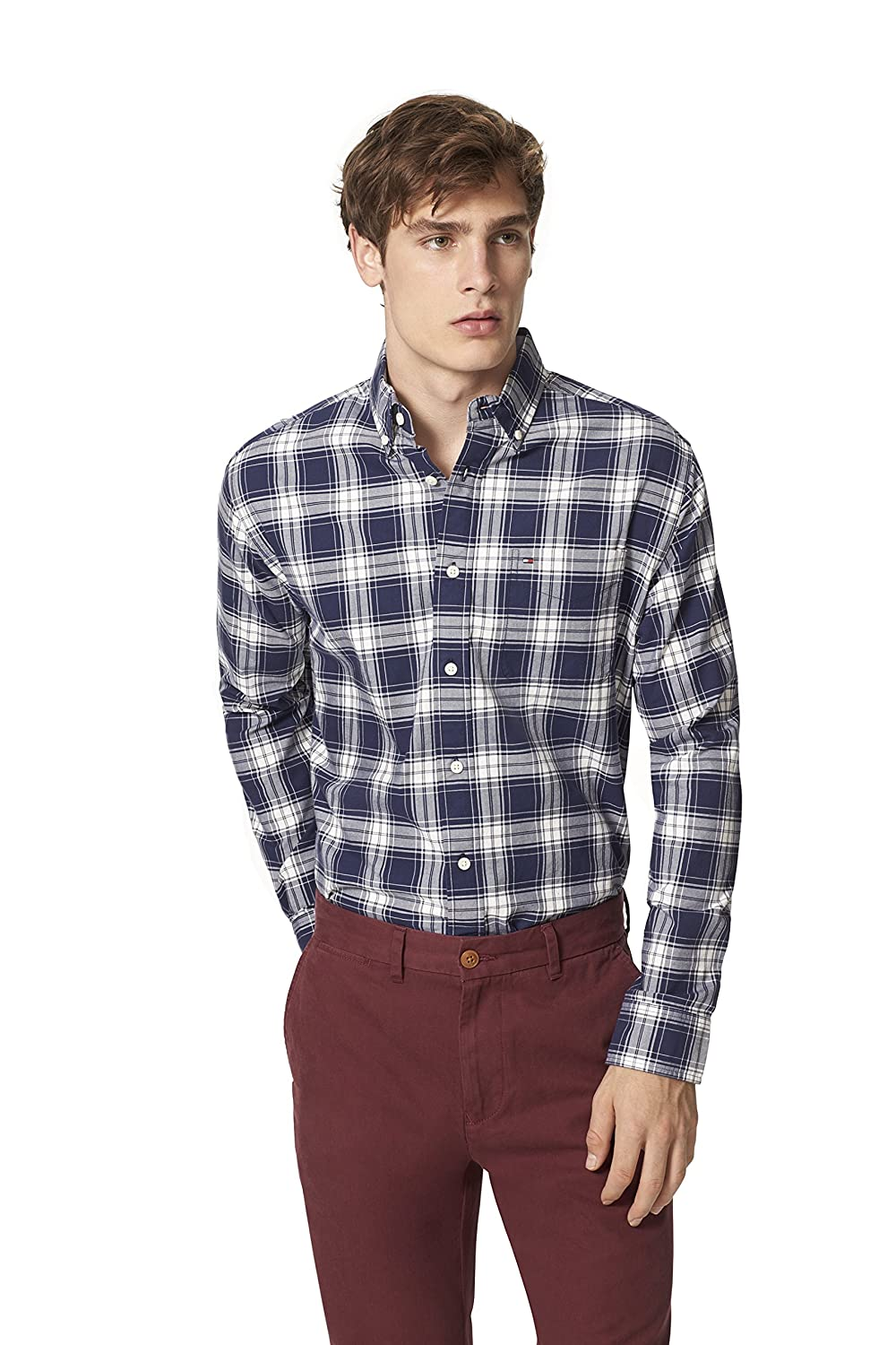 Tommy Hilfiger Men's Sawyer Plaid Shirt 8814432