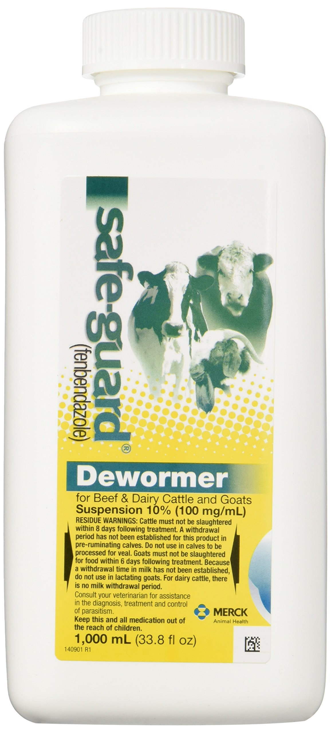 Safe-Guard Dewormer Suspension for Beef, Dairy Cattle and Goats, 1000ml