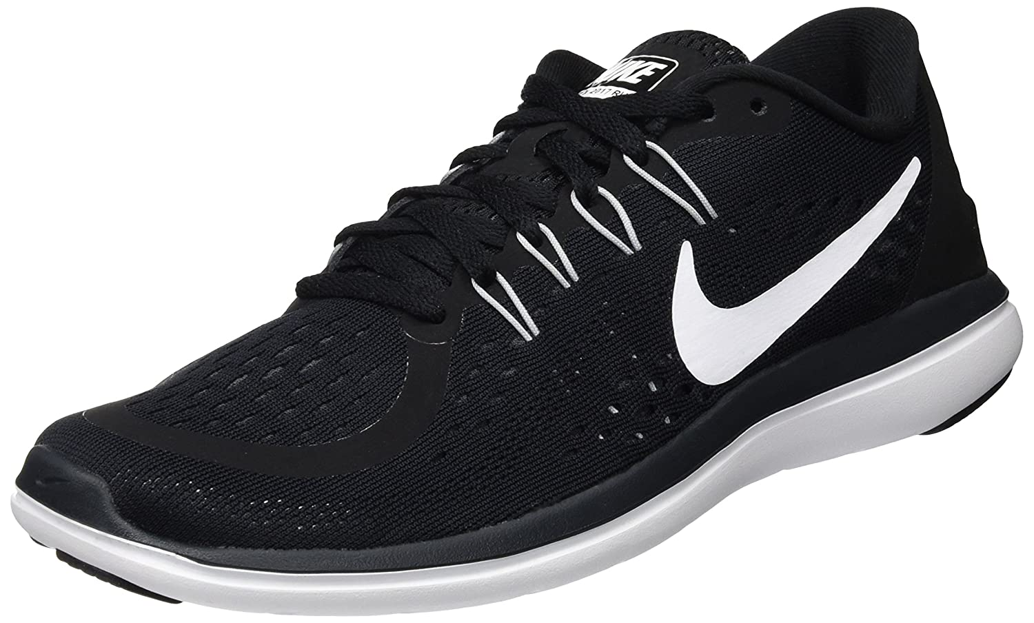 new product a7f3e 8440a Nike Women's Flex 2017 Rn Black/White - Anthracite Ankle-High Cross Country  Running Shoe 7M