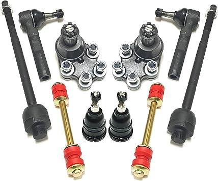 10 Pc Front /& Rear Steering Kit for Chevrolet GMC Silverado Sierra 1500 Tie Rods
