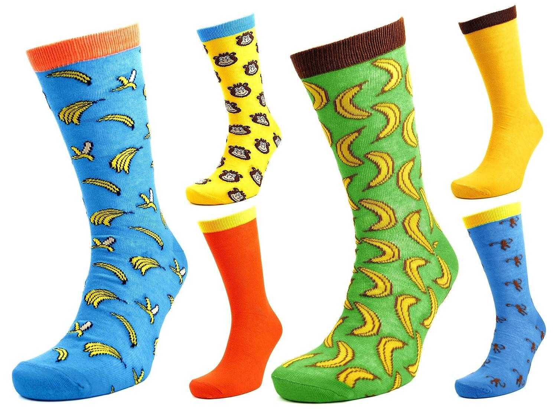 Tom Franks 6 pares para hombre Mono & Plátanos Calcetines Con Personaje 7-11: Amazon.es: Ropa y accesorios