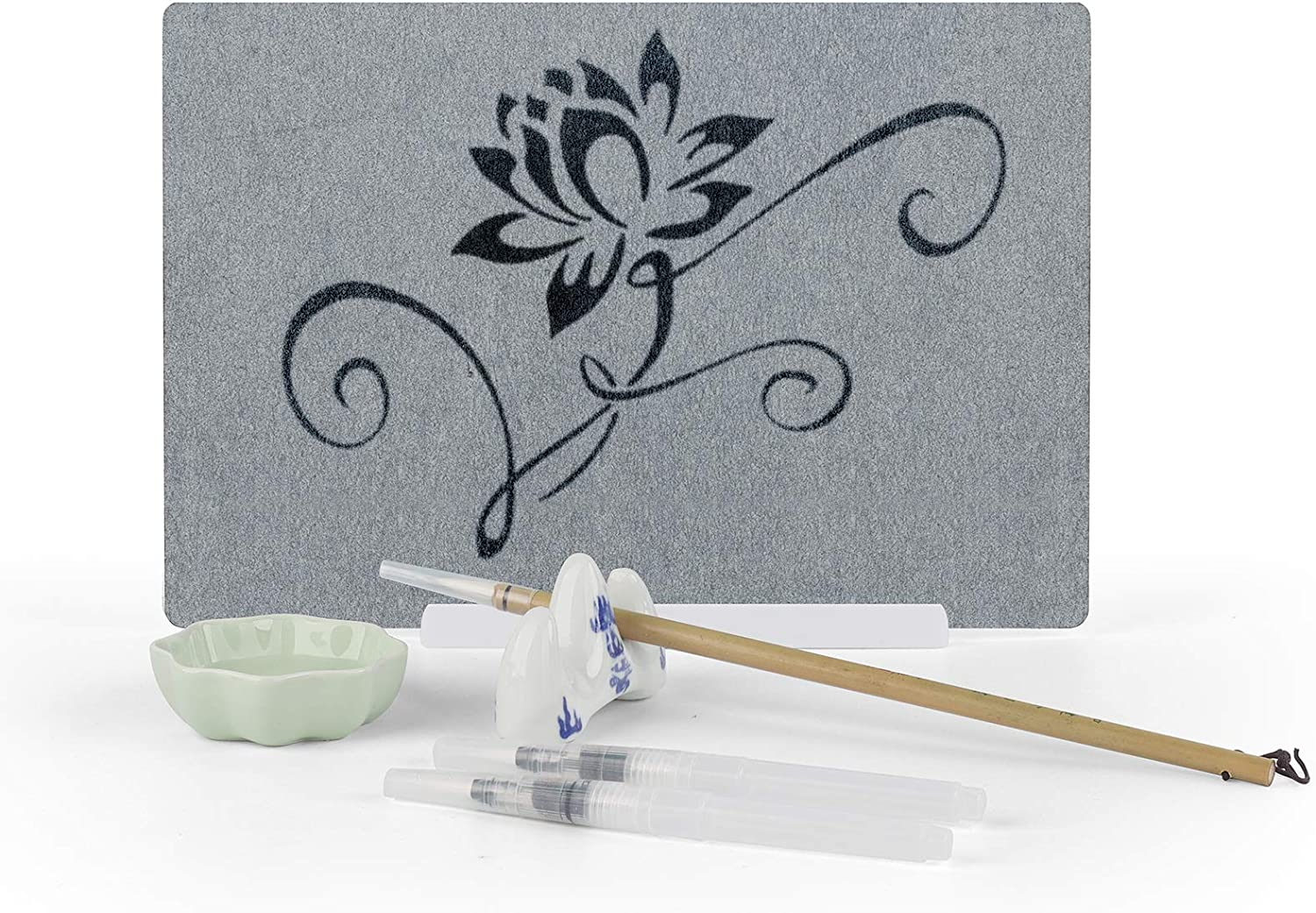 A4 Artist Board with Calligraphy Set Repeatable Water Drawing Board Inkless Water Drawing Set for Adults Girls Boys
