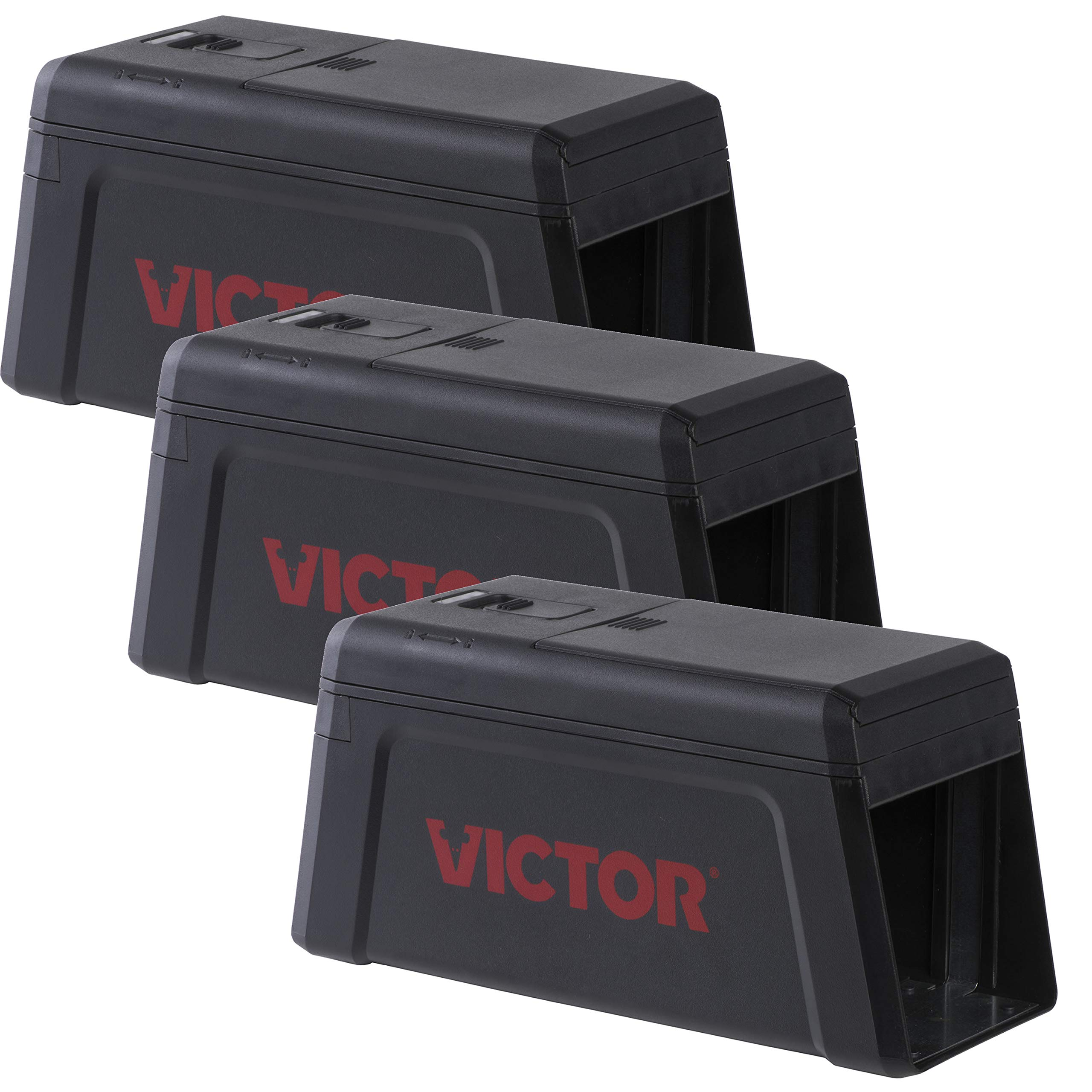 Victor M241SR-3 Electronic Rat Trap-3 Pack, Black by Victor