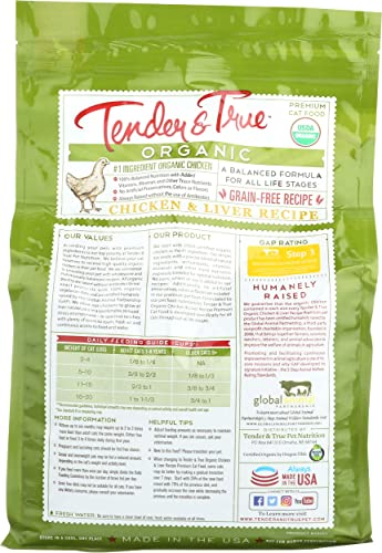 Tender True Organic Chicken Liver Recipe Cat Food
