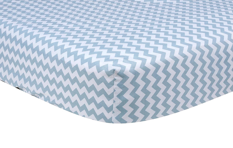 Trend Lab Blue Sky Chevron Crib Sheet