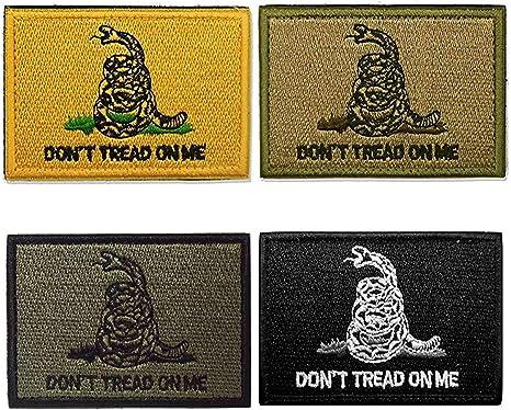 Hacha hoz (2 x 3 cm) Don t Tread On Me bandera – táctica bandera de EE. UU., la moral militar parche/patch – 2 piezas.: Amazon.es: Juguetes y juegos