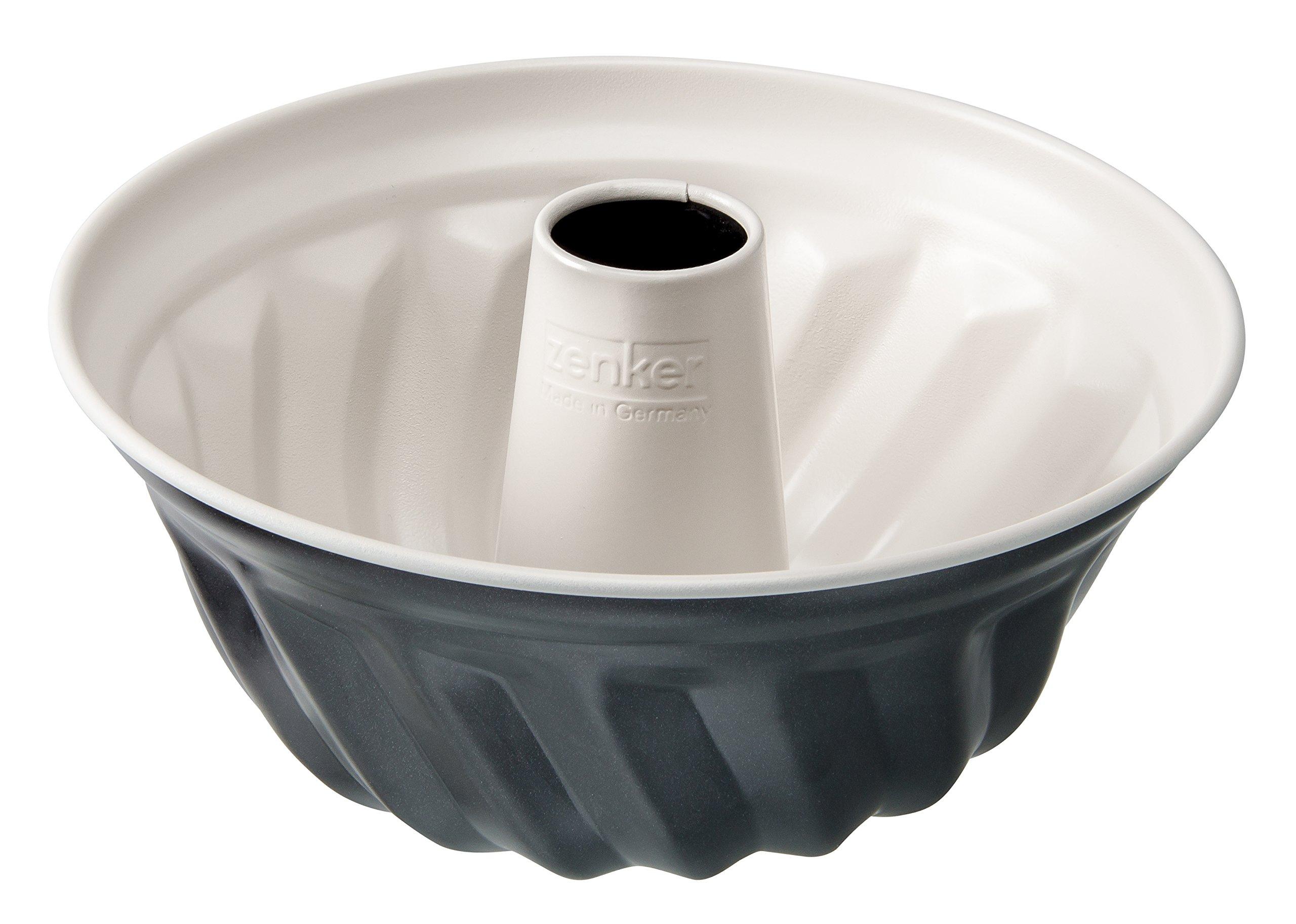 Zenker 7815 Kugelhopf Tin ''Creme Noir'', Grey/Beige, 8.66''