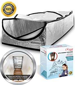 "Attic Stairs Insulation Cover 25""x 54""x 11"" - Attic Tent - Attic Access Insulation Cover - Attic Stair Insulator Cover - Attic Ladder Insulation Cover; Attic Door Tent; Attic Ladder Cover Pull Down"