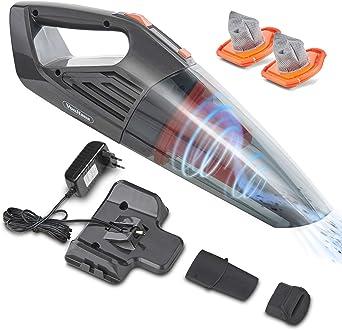 Automatique et Pr/écis Gonfleur Manuel Portable Compact pour Pneus de V/élo//Voiture Pression Maximum 125 PSI VonHaus Gonfleur de Pneumatiques Sans Fil 12 V avec T/émoin LED