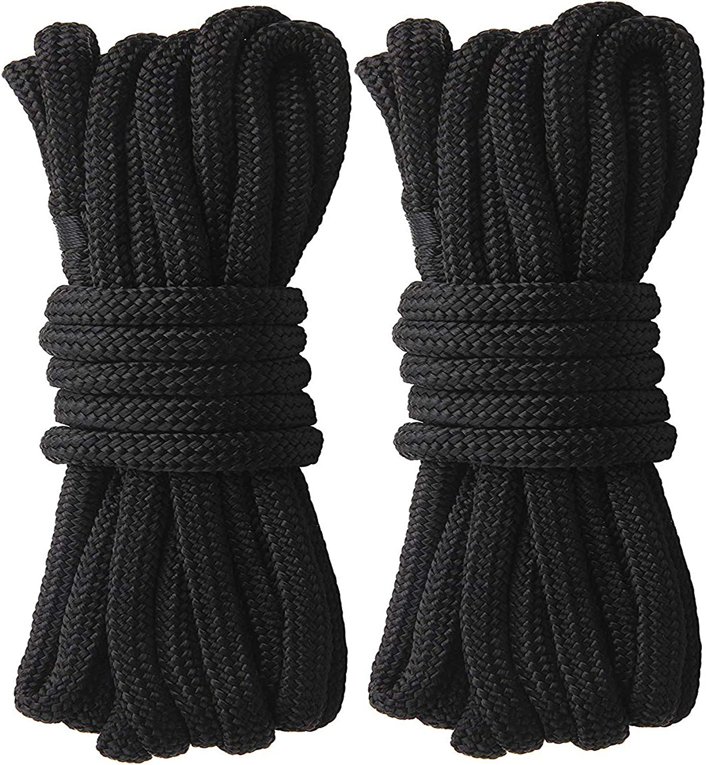 Dia:3//8inch,1//2inch,5//8inch JSHANMEI Dock Lines Rope-2pack 25FT Double Braided Boat Docking Lines Mooring Lines with 12inch Eyelet Anchor Line Boat Equipment