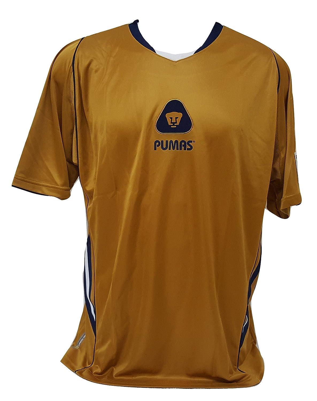 51ac176328d4e Pumas de la UNAM Men's Soccer Gold Jersey Size X-Large Official ...