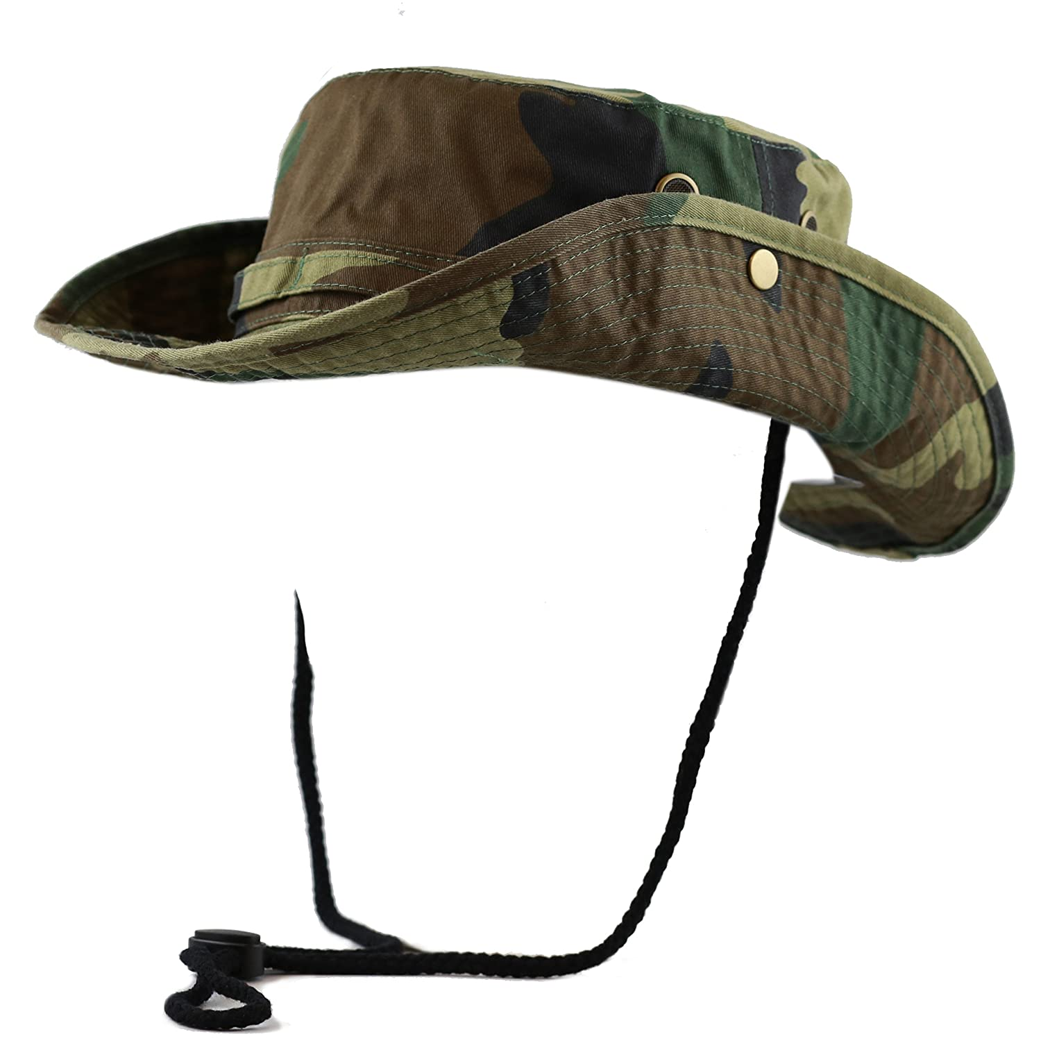 THE HAT DEPOT 100/% Cotton Stone-Washed Safari Wide Brim Foldable Double-Sided Sun Boonie Bucket Hat