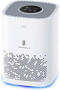 TaoTronics Air Purifier, H13 Air Cleaner HEPA , CADR 150m³/h Desktop Filtration for Bedroom Kid's Room Office, 3 Fan Speeds Air Purification for Pet Dander Dust Pollen, Sleep Mode Home Air Purifiers