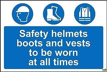 Cascos de seguridad botas y chalecos para ser usado en todo momento seguridad señal – 1