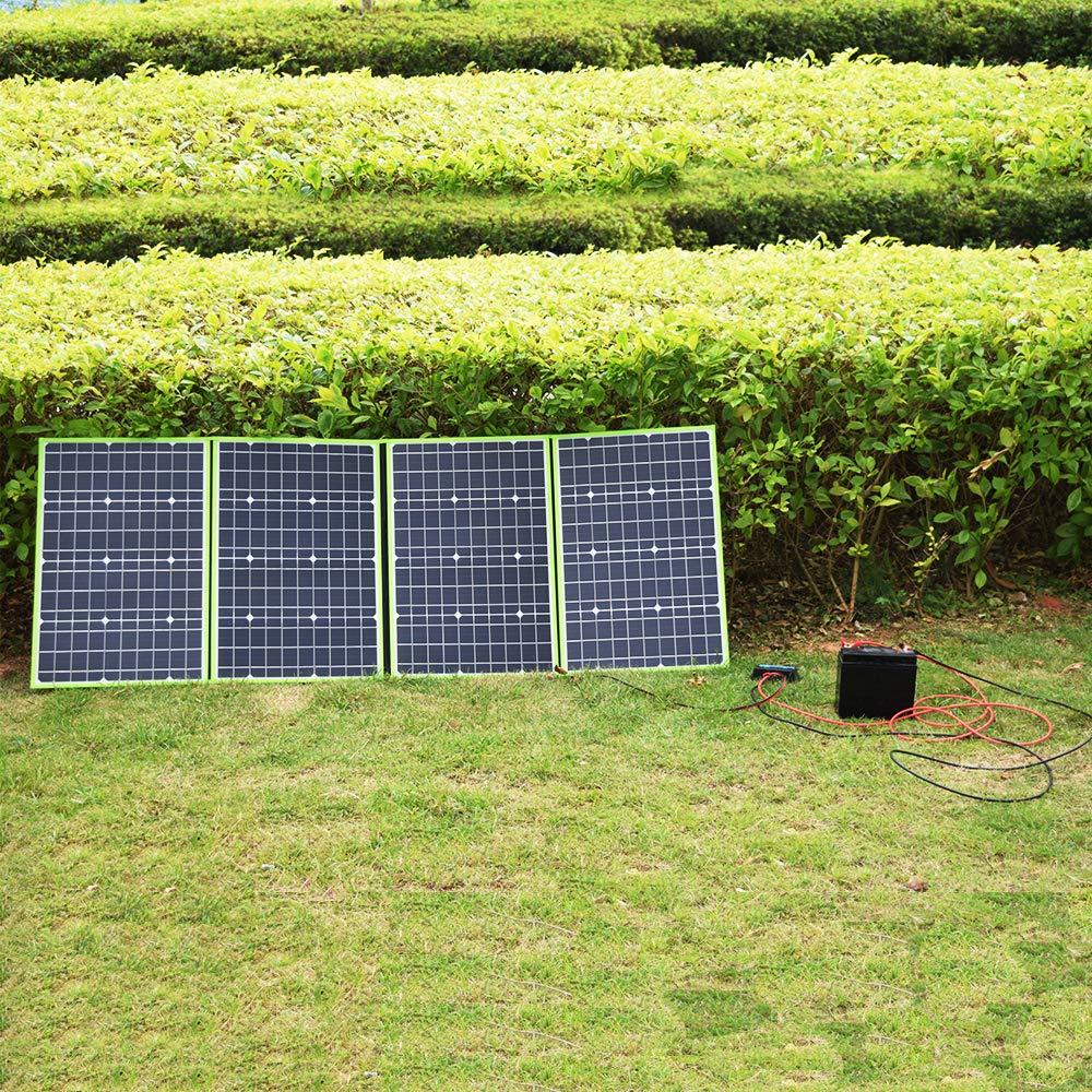 XINPUGUANG 200 W 4 x 50 watt 12 V pannello solare monocristalino caricatore solare 20A Dual USB Controller fotovoltaico MC4 Aligator cavo per camper auto tenda camper 12 V ricarica batteria