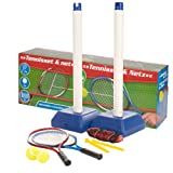 Kids Outdoor Garden Tennis Set With Net Stand 2 Rackets Balls Game Toy Training