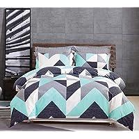 Gioia Casa 100% Cotton Soft Modern City Reversible Geometric Quilt Cover Set Duvet King/Queen Size