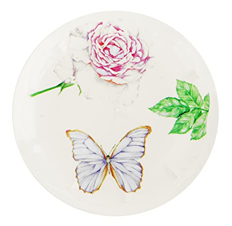 Vintage Collection Disposable Plastic Dinnerware Party Plates - Real China Look - Hard \u0026 Reusable -  sc 1 st  Amazon.com & Amazon.com: Vintage Collection Disposable Plastic Dinnerware Party ...
